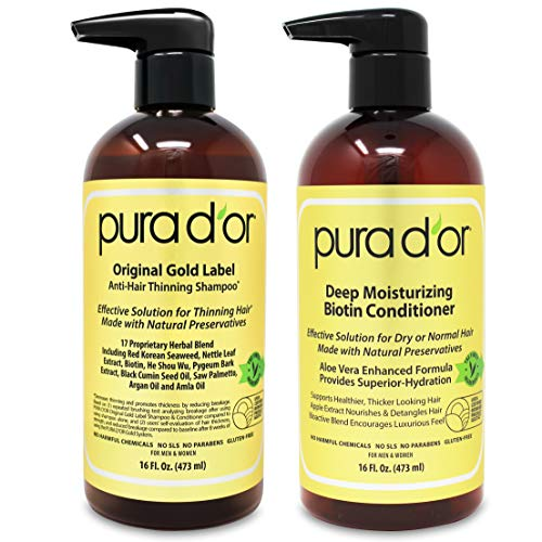 PURA D'OR Biotin Gold Label Shampoo and Conditioner