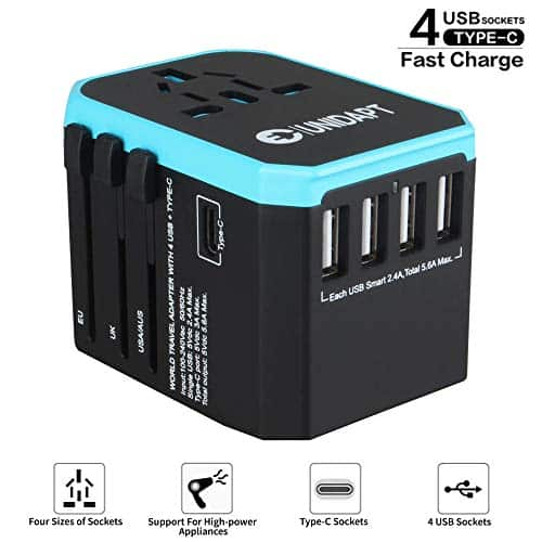 Unidapt International All in one Universal World USB Travel Adapter