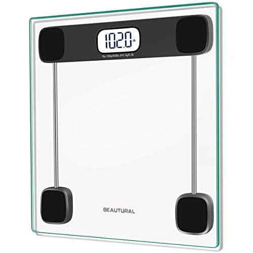 Beautural Precision Body Weight Digital Bathroom Scale Lighted Display 400 lb Step-On Technology