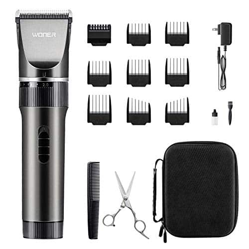 WONER Hair Trimmers, Quiet Cordless Rechargeable Hair Clippers