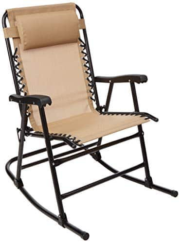 AmazonBasics Outdoor Patio Folding Rocking Chair