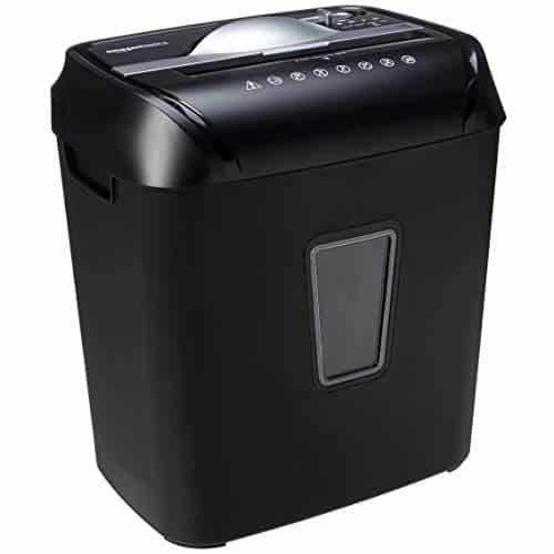 AmazonBasics 8-Sheet Cross-Cut Paper and Credit Card Home Office Shredder