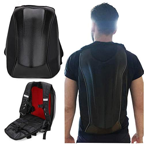 Motorcycle Backpack Hard Shell Waterproof Backpack