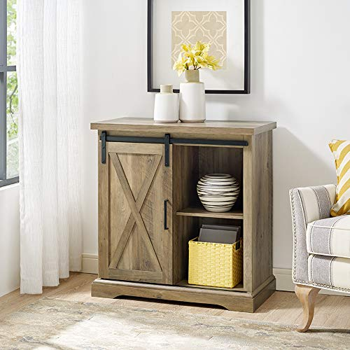 WE Furniture Modern Farmhouse Cabinet Storage