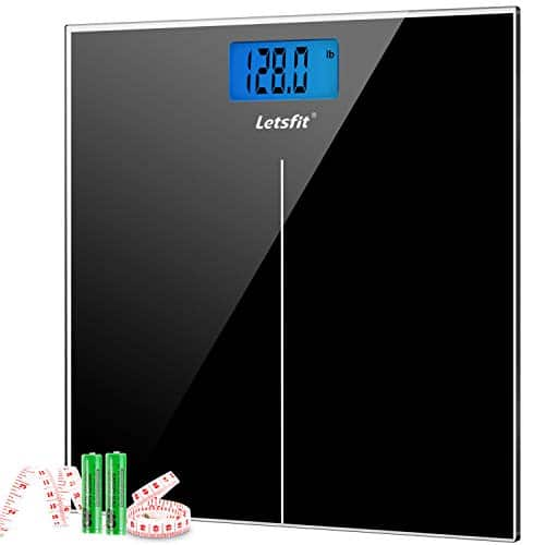 Letsfit Weight Scale Digital Body Bathroom Scale Large Backlit Step-On Technology