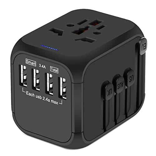 Upgraded Universal Travel Plus Adapters, Castries All-in-one Worldwide