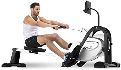JOROTO Magnetic Rowing Machine with LCD Monitor