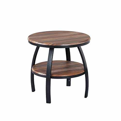 Artum Hill Yohanis Round End Table with Metal Legs
