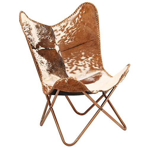 Tidyard Vintage Butterfly Chair Handmade Leather Chair