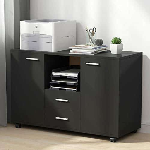 Tribesigns File Cabinets, 2 Drawer Filing Cabinets - Printer Stands