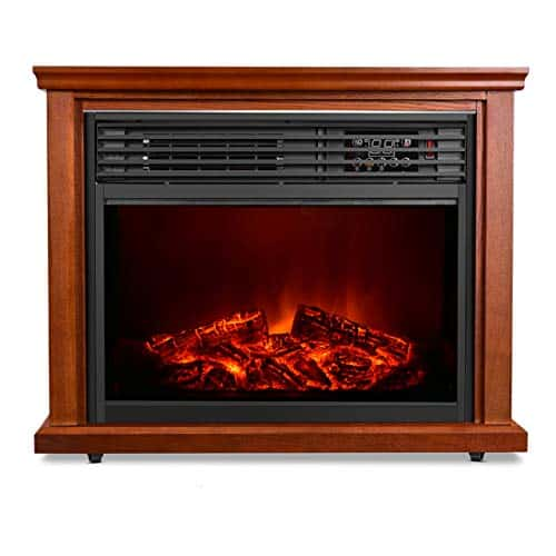 AIR CHOICE Electric Fireplace Heater with Remote