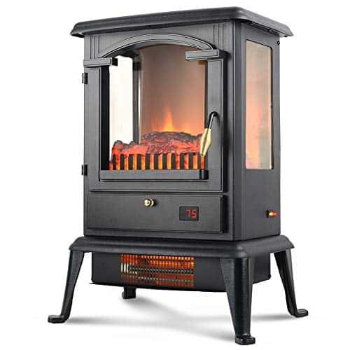 Life Smart Quartz Infrared Electric Fireplace Stove