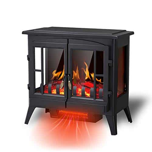 RW Flame Electric Fireplace Stove with Freestanding Design