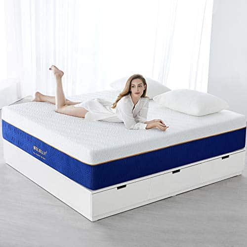MOLBLLY Gel Memory Foam Mattress with Knitted Cover