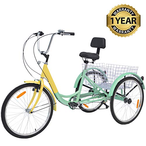 Slsy Adult Tricycles 7 Speed, Adult Trikes 3 Wheel Bikes