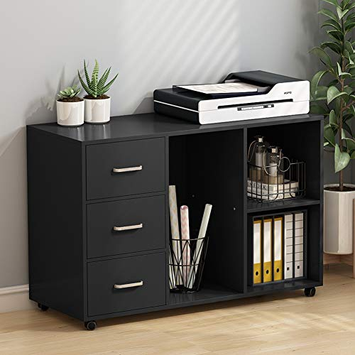 Tribesigns File Cabinets, 3-Drawer Large Printer Stands