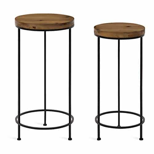 Kate & Laurel ESPADA Rustic Round End Table