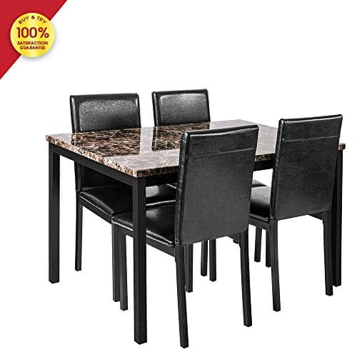 DKLGG Faux Marble Dining Set with Chairs