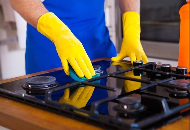 cleaning gas stove